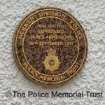 PC James Armstrong Memorial Plaque