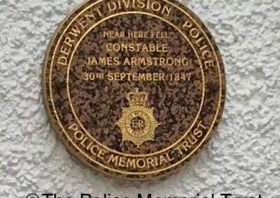 Constable James Armstrong Memorial Plaque