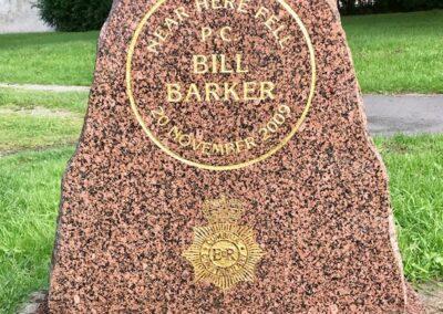 PC Bill Barker Memorial Stone