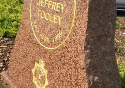 PC Jeffrey Tooley Memorial Stone
