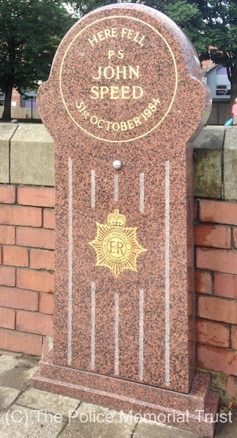 PS John Speed Memorial Stone