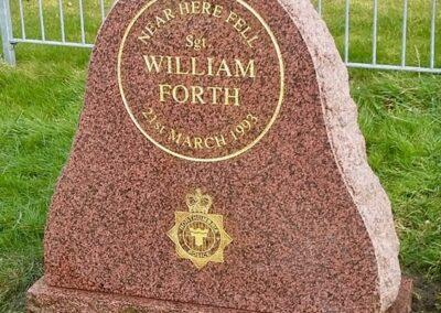 Sergeant William Forth Memorial Stone