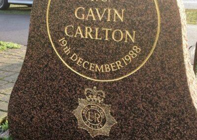 PC Gavin Carlton Memorial Stone