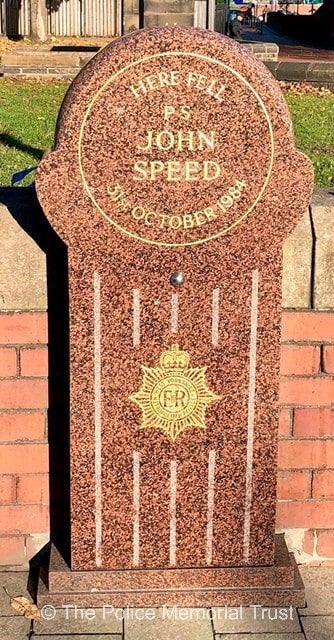 PS John Speed Memorial