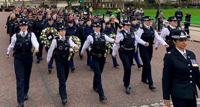 Serving and retired female police officers