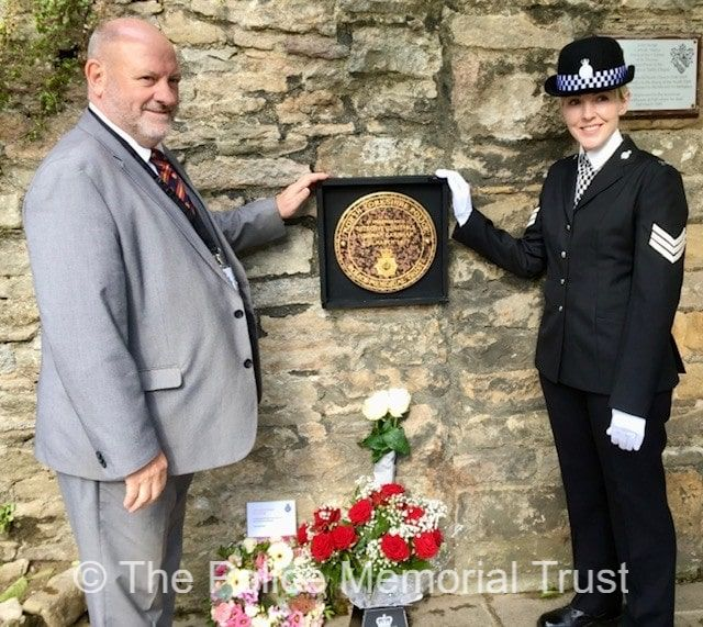 Steve Lloyd at the unveiling of PC Garnhams memorial
