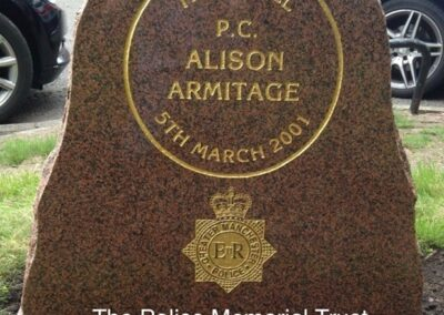 PC Alison Armitage Memorial Stone