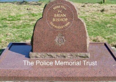 PC Brian Bishop Memorial Stone