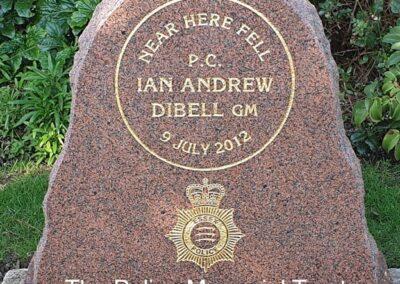 PC Ian Dibell GM Memorial Stone