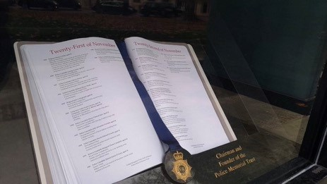The Police Roll of Honour at the National Police Memorial