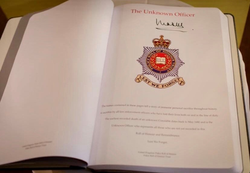 The Police Roll of Honour signed by Prince Charles min