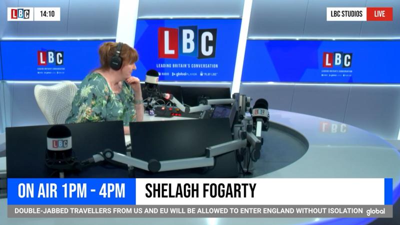 LBC radio interview screenshot